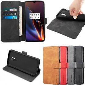 DG-Ming mobilplånbok 3-kort OnePlus 6T (A6010) mobilskal fodral caseonline