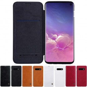 Nillkin Qin FlipCover Samsung Galaxy S10 (SM-G973F) fodral skydd mobilskal