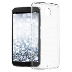 Nexus 6 silikon skal transparent