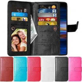 Mobilplånbok Dubbelflip Flexi 9-kort Sony Xperia L3 (I4312) mobilskal fodral väska