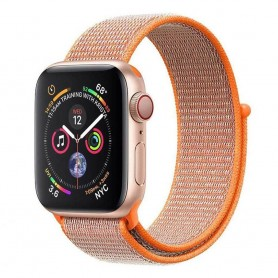 Apple Watch 4 (40mm) Nylon Armband kardborre - Spicy Orange