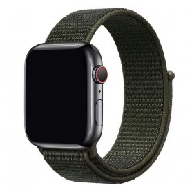 Apple Watch 38mm Nylon Armband Cargo Chaki
