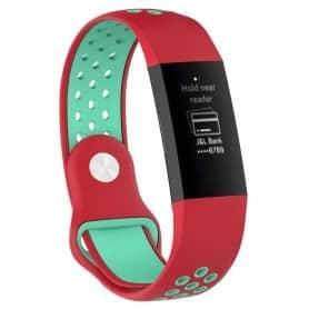 EBN Sport Armband Fitbit Charge 3 - Röd/mint