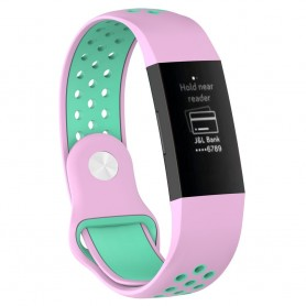 EBN Sport Armband Fitbit Charge 3 - Rosa/mint