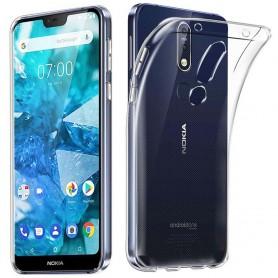 Silikon skal transparent Nokia 7.1 2018 (TA-1095)