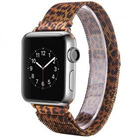 Apple Watch 4 (44) Armband Milanese - Leopard