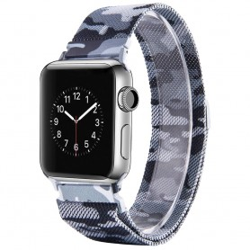 Apple Watch 4 (40) Armband Milanese Camo - Grå