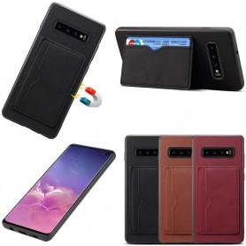 Denior Läderskal med kortplatser Samsung Galaxy S10 (SM-G970F)