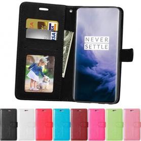 Mobilplånbok 3-kort OnePlus 7 mobilskal fodral