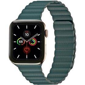 Apple Watch 5 (44mm) Læder loop rem - Sort