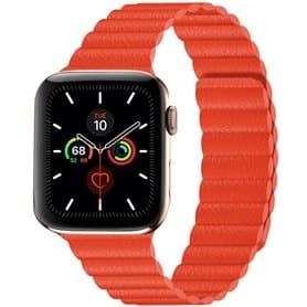 Apple Watch 5 (44mm) Læder loop rem - Brun