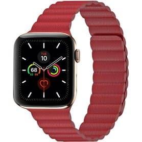 Apple Watch 5 (44mm) Læder loop rem - hvid