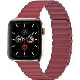 Apple Watch 5 (44mm) Læder loop rem - rød