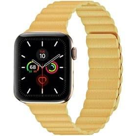 Apple Watch 5 (44mm) Læder loop rem - Vinrød