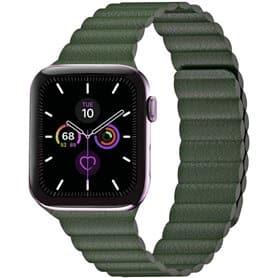 Apple Watch 5 (44mm) Læder loop rem - Beige