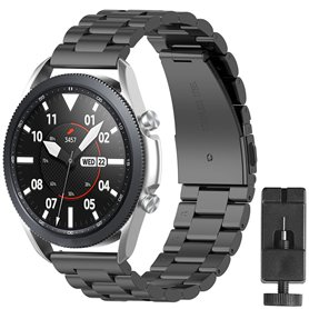 Armbånd rustfri stål Samsung Galaxy Watch 3 (41mm) - Sort