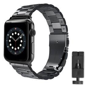 Armbånd Rustfrit stål Apple Watch 6 (40mm) - Sort