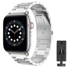 Armbånd Rustfrit stål Apple Watch 6 (40mm) - Sølv