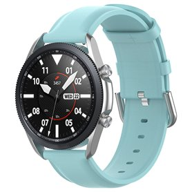 Læderarmbånd Samsung Galaxy Watch 3 (41mm) - Lyseblå