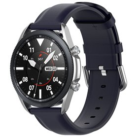 Læderarmbånd Samsung Galaxy Watch 3 (41mm) - Mørkeblå