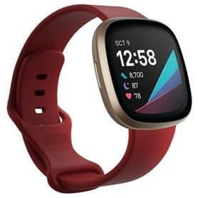 Sport Armbånd til Fitbit Sense - Mørkerød