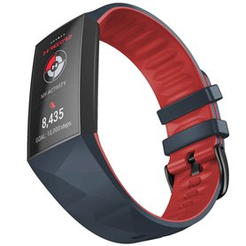 Twin Sport Armbånd Fitbit Charge 4- Mørkegrå/rød