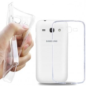Galaxy Core Plus silikon skal transparent