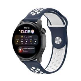 EBN Sport Armbånd Huawei Watch 3 - Navy/hvid