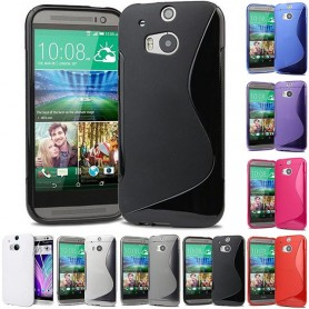 S Line silikon skal HTC ONE M8